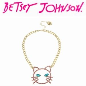 Betsey Johnson Cat Face Necklace